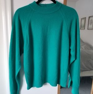 Vintage Teal Mock Neck Sweater